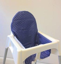 """Sitzkissen """"Punkte/blau"""" für Ikea Antilop und Blames Hochstuhl"""