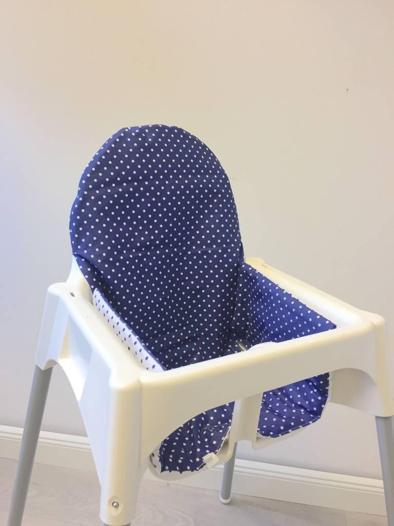 """Sitzkissen """"Punkte/blau"""" für Ikea Antilop"""