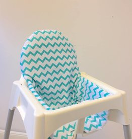 "Highchair cushion ""Chevron/petrol"""