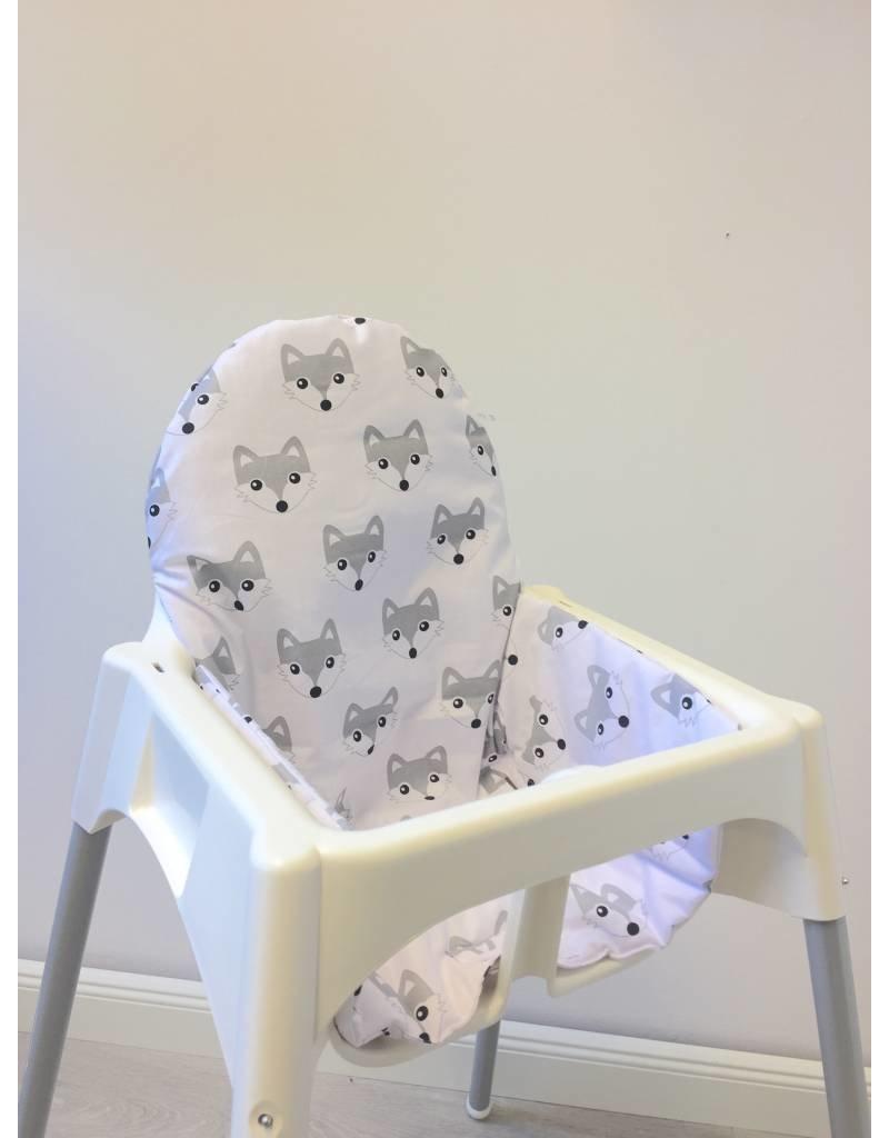 """coussin """"renards"""" pour chaise haute antilop de ikea - puckdaddy"""