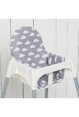 """Sitzkissen """"Wolken grau"""" für Ikea Antilop"""