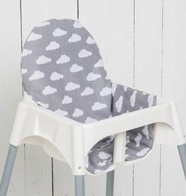 """Sitzkissen """"Wolken grau"""" für Ikea Antilop und Blames Hochstuhl"""