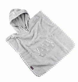 "Hooded Towel Poncho ""Anchor"""