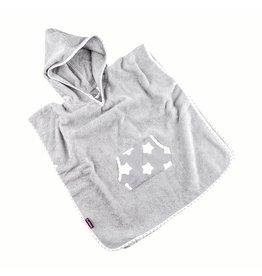 "Hooded Towel Poncho ""Stars Grey"""