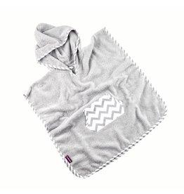 """Hooded Towel Poncho """"Chevron"""""""