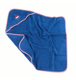 "Hooded towel ""Boat"" blue"