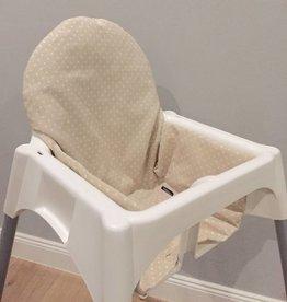"""Coussin """"Points beige"""" pour chaise haute"""