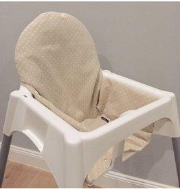 """Highchair cushion """"Points beige"""""""