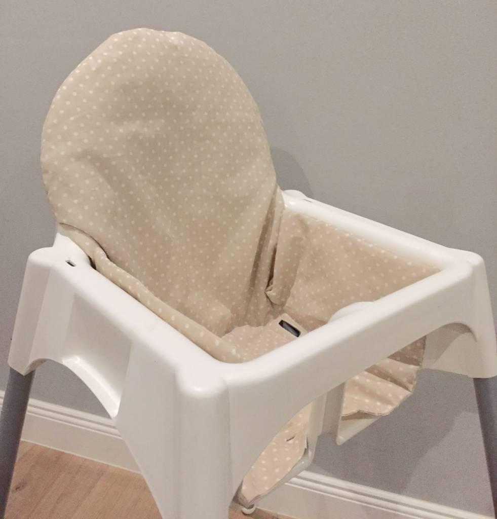 """Sitzkissen """"Punkte beige"""" für Ikea Antilop"""