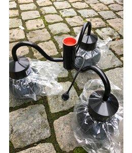 Professionele Verhuur / Tent Verlichting (HKH Lighting) Hanglamp 3 Bols Zwart