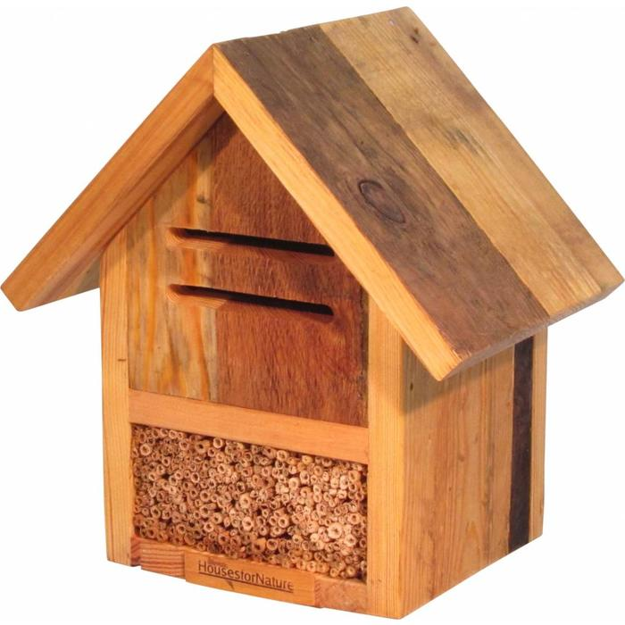 Insectenhotel lieveheersbeestjes en bijen, gerecycled hout