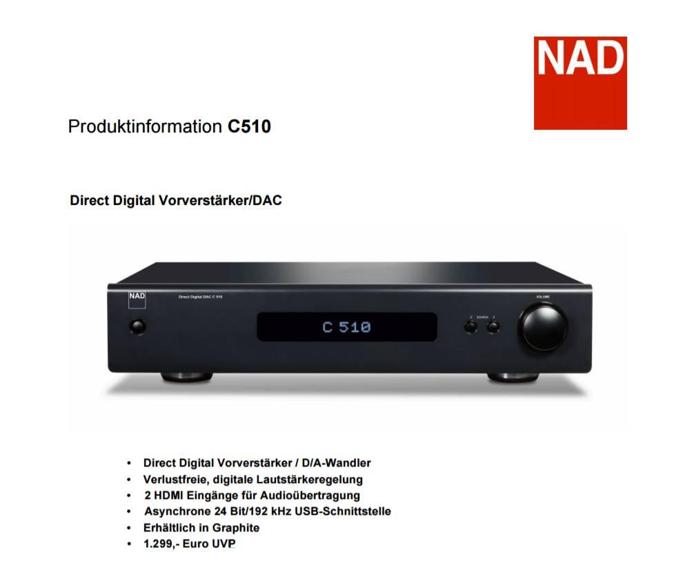 NAD C 510 Vorverstärker