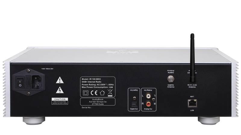 Block Audio IR-100+ MKII WLAN-Internet-Radio mit DAB+