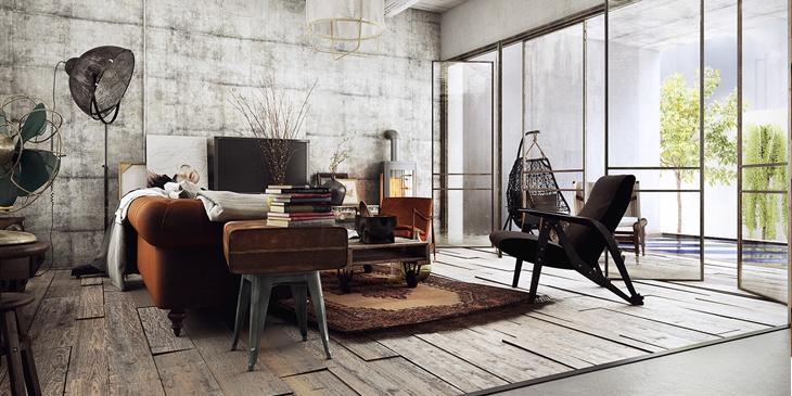 Emejing Woonkamer Industrieel Inrichten Photos - New Home Design ...