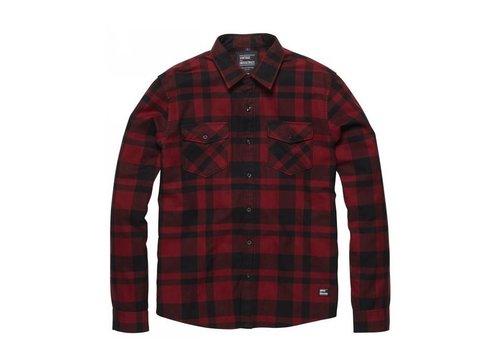 Vintage Industries Austin Shirt Red Check Heren