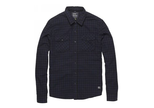 Vintage Industries Harley Shirt Blue Check Heren