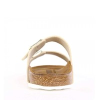 Mayari Shiny Snake Creme Slippers Dames