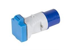 Kampa CEE Mains 3 Polige Adapter Grijs-Blauw Reisstekkers