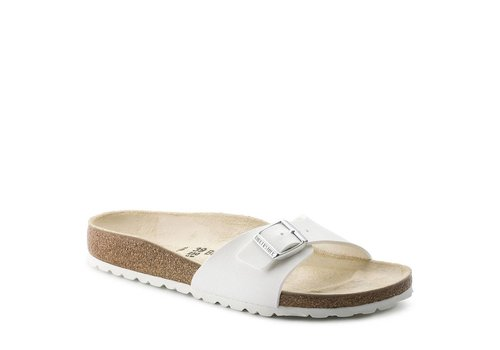 Birkenstock Madrid Wit Slippers Dames