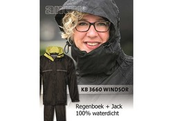 Anuy Windsor Zwart Regenpak Uniseks