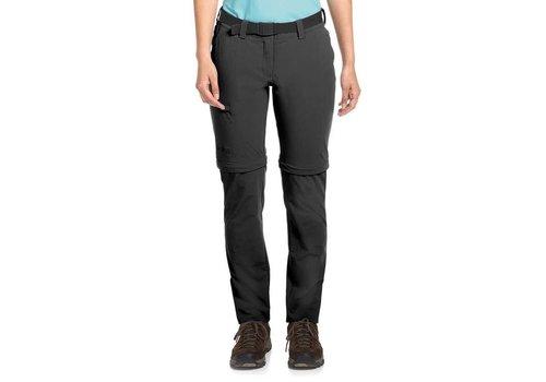 Maier Sports Inara Pants Zip-Off Kort Zwart Outdoorbroek Dames