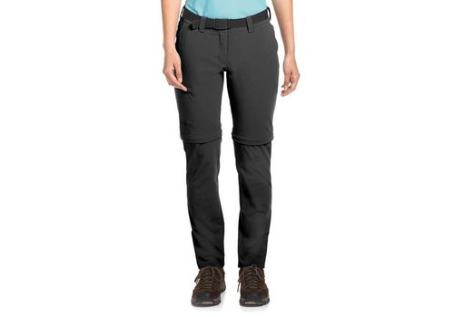 Maier Sports Inara Pants Zip-Off Lang Zwart Outdoorbroek Dames