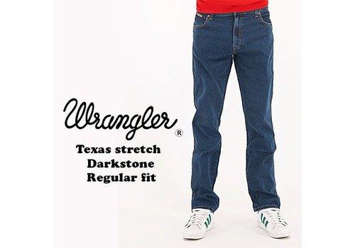 Wrangler Texas Stretch Darkstone Jeans Heren