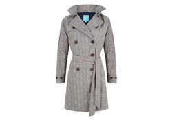 Happy Rainy Days Coat Celeste Stripes Clay/Navy Regenjas Dames