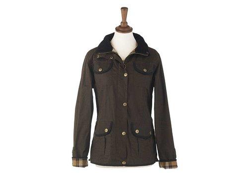 MGO Leisure Wear Alister Wax Jacket Brown Dames