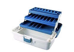Dam Tackle Box 3 Ladig Blauw Viskisten