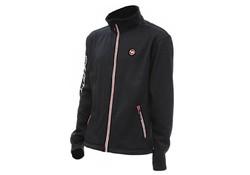 Dam Effzett Microfleece Jacket Zwart-Rood Fleecejack