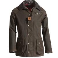 Berwick Wax Jacket Dark Olive Heren