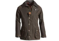 MGO Leisure Wear Berwick Wax Jacket Dark Olive Heren