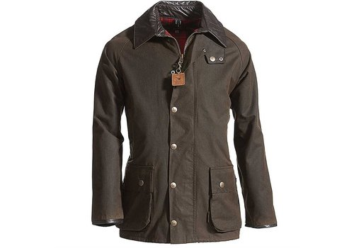 MGO Leisure Wear Berwick Wax Jacket Dark Olive Heren