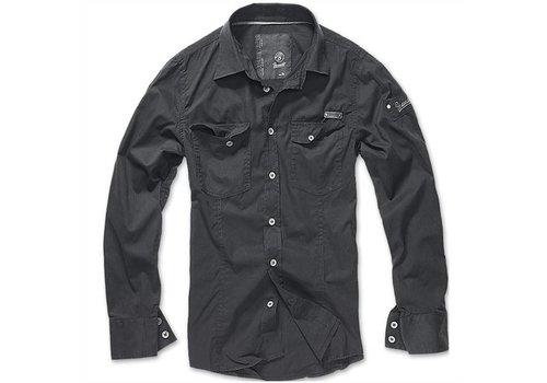 Brandit Slim Fit T-Shirt Black Overhemd Heren