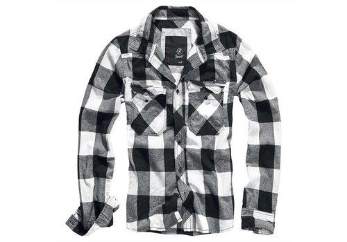 Brandit Checkshirt White-Black Overhemd Heren