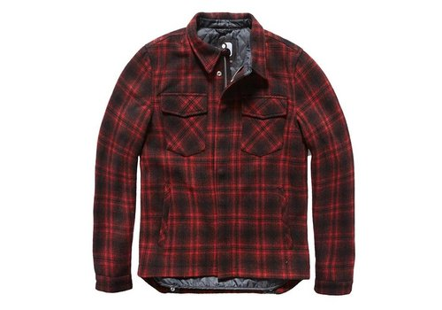 Vintage Industries Class Jacket Red Check Heren
