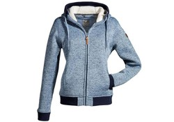 MGO Leisure Wear Tess Jacket Blauw Vest Dames