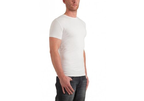 Garage Bodyfit R-Neck T-Shirt Wit Heren