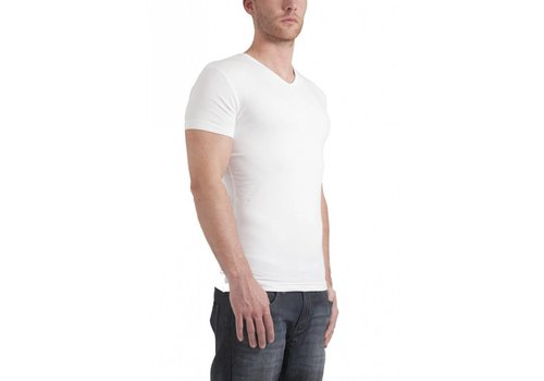 Garage Bodyfit V-Neck T-Shirt Wit Heren
