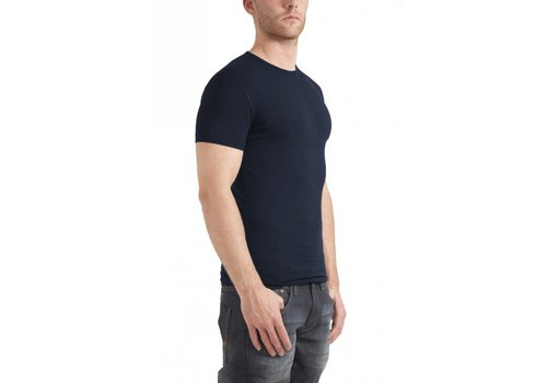 Garage Bodyfit R-Neck T-Shirt Navy Heren