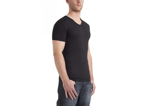 Garage Bodyfit V-Neck T-Shirt Zwart Heren