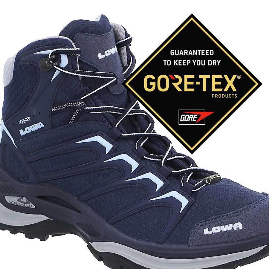 Innox GTX Mid Navy Ice Blue Wandelschoenen Dames