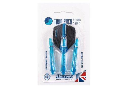 Harrows Retina Twin Pack Darts Aqua