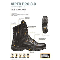Viper Pro 8.0 Leer WP Zwart Legerkisten Uniseks