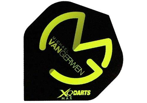 XQ Max Darts Michael van Gerwen Flights Zwart/Groen Darts