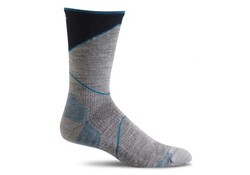 Sockwell Ascend Crew Grey Compressiekousen Heren