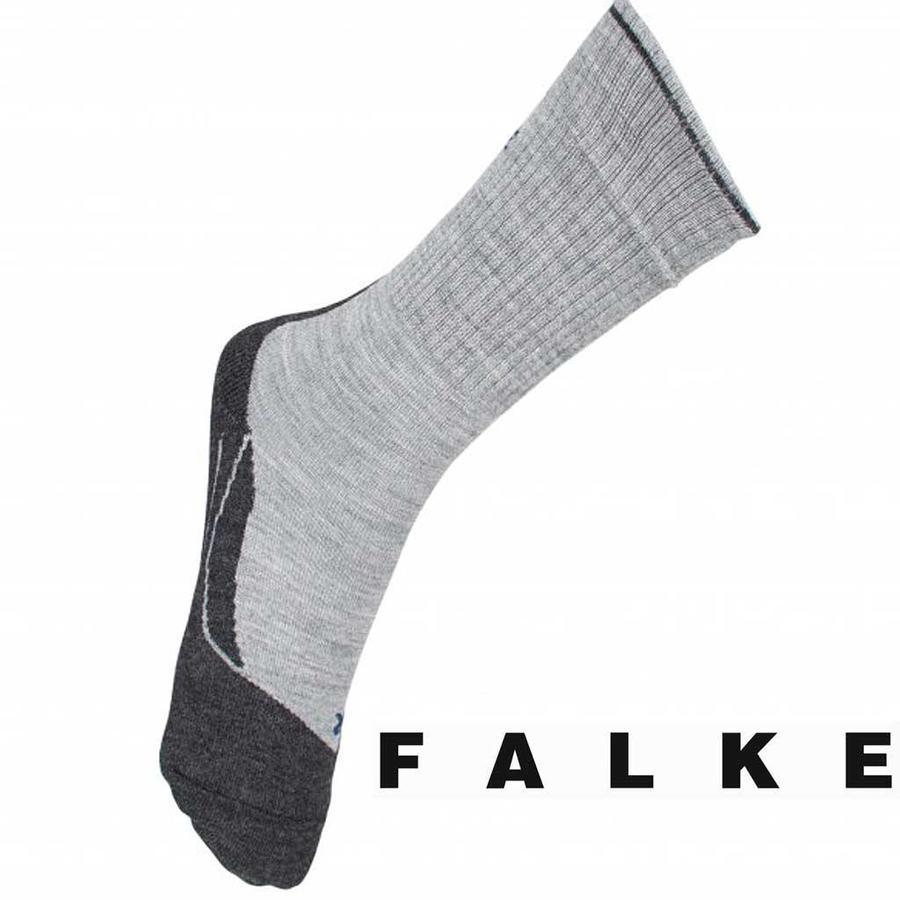 TK2 Wool Silk Light Grey Wandelsokken Dames