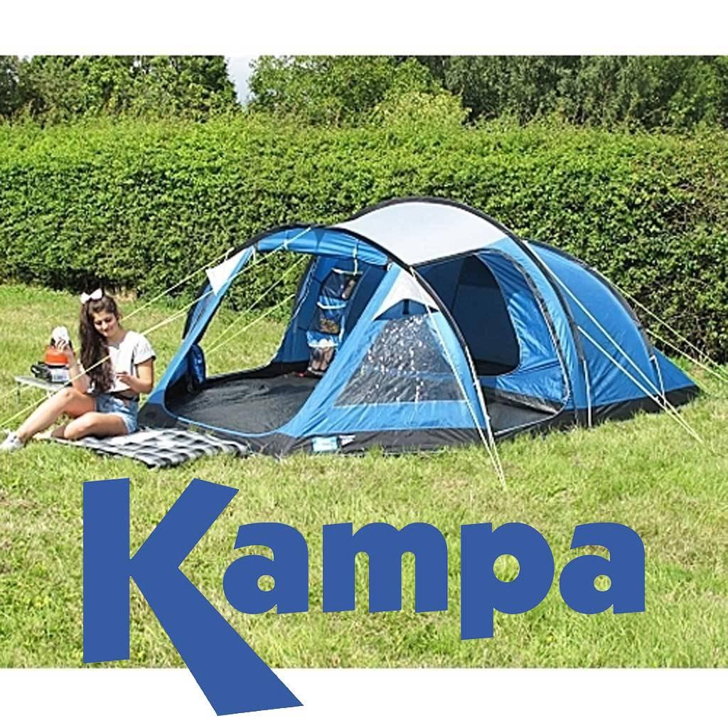 kampa mersea 3 blauw tent gratis verzending. Black Bedroom Furniture Sets. Home Design Ideas