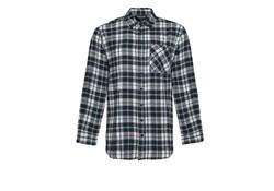 Life Line Anton Flanel Shirt Black Blue Check Heren